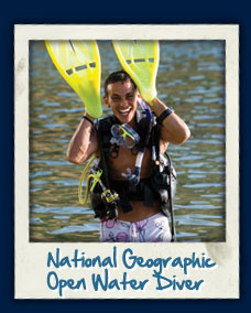 PADI National geographic OWD course