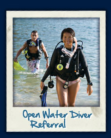 PADI OWD referral course