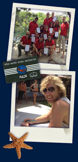 PADI Instructor training